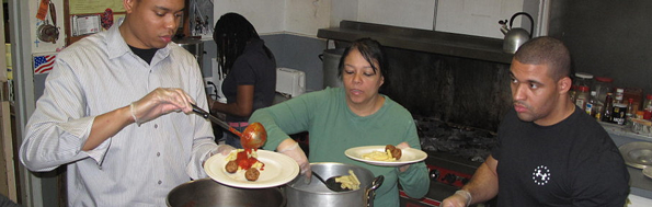 Volunteers in Kitchen